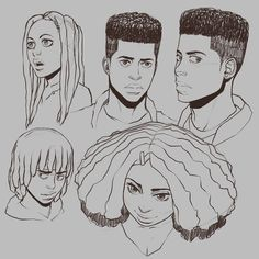 Fantasting Drawing Hairstyles For Characters Ideas. Amazing Drawing Hairstyles For Characters Ideas. Arte Alien, Black Anime Characters, How To Draw Hair, Art Reference Poses, Character Design References, Art Drawings Sketches, Character Drawing, Character Design Inspiration, Figure Drawing