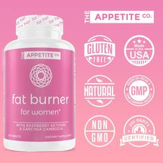 Made with natural ingredients, The Appetite Co. Fat Burner for women is a perfect fat burner, rapid carbs blockers and appetite suppressant product Fat Burner Pills, Carb Blocker, Keto Pills, Raspberry Ketones, Good Manufacturing Practice, Diet Supplements, How To Increase Energy, Vitamins And Minerals, Metabolism