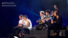 The boys on stage in Colombia today