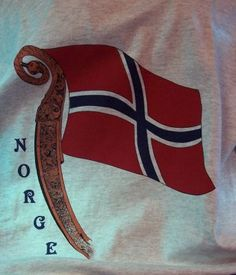 The Vikings Norway's flag David The Gnome, Norwegian Flag, Norway Viking, Norway Flag, Norse Symbols, Norway Travel, Norse Vikings, Viking Art, Norse Mythology