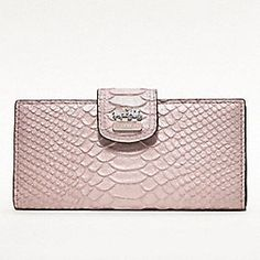 Coach Madison Embossed Python Skinny Wallet... this is going on my wishlist.