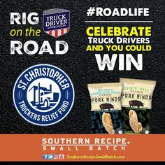 Enter today by answering a trivia question! Click the pin! And enter every day to increase your odds! It's our 6th year celebrating #TruckDriverAppreciationWeek: we're honoring America's hard working #truckdrivers alongside brands like Shell Rotella​ to support the St. Christopher Truckers Relief Fund​.   #Snacks #Protein #Foodie #CraftBeer #FitFoodies #PorkRind #PorkRinds #Fun #Delicious #Snack #Workout #rig #truck #trucking #trucker #truckingcompanies #truckerlife #womenintrucking