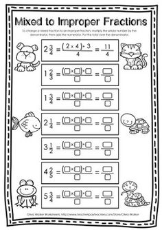 Improper fractions and mixed number - converting fractions - worksheets Improper Fractions, Fractions Worksheets, Number Worksheets, Save Your Money, Maths, Save Yourself, Numbers, Teaching, Writing