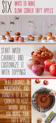 Easy cleanup homemade caramel apples