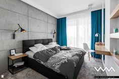 sypialnia z betonem - zdjęcie od WMA Design - Sypialnia - Styl Nowoczesny - WMA Design