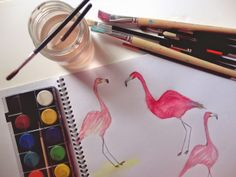 Oh my Deer ! : When in doubt draw...flamingos!