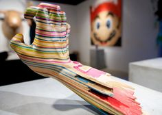 Sculptures by Haroshi, made entirely out of old skateboard decks. #coolstuff