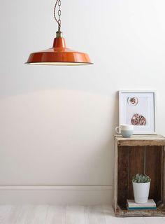 Orange Brenne Diner Ceiling Light