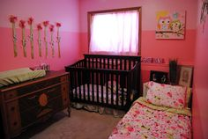 Toddler Baby Shared without the giant dresser for more functional space