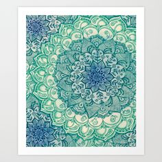 Emerald+Doodle+Art+Print+by+Micklyn+-+$16.00