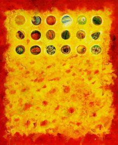 De la carta del bordado amarillo y cagarnera + abubilla  #arte #contemporaneo #elche #art #paintings #antoniasoler #contemporaryart http://antoniasoler.com/es/blog