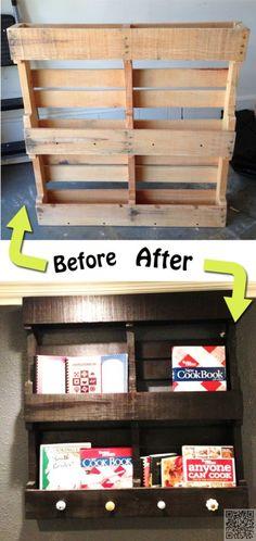 7. Wood #Pallet Makeover - #Shelfies: the Best DIY Shelves ... → DIY #Molding