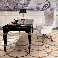 elegant home office | Skirt the Ceiling | skirttheceiling.com