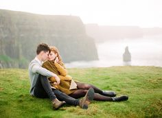 Breathtaking Engagement on The Cliffs of Moher - Wedding Ideas - Once Wed
