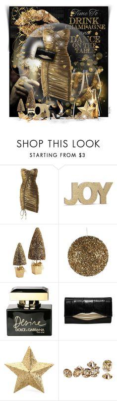 """New Year Eve Party!"" by pinkroseten ❤ liked on Polyvore featuring Lanvin, Pier 1 Imports, Giuseppe Zanotti, Dolce&Gabbana, Chanel, Diane Von Furstenberg and Eliot Raffít"