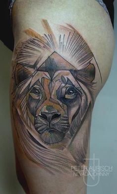 2226d7c58f290 Abstract Lion Tattoo: Peter O'Toole Animal Tattoos Peter Aurisch ... Lion