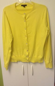 Vince Womens Sweater Size L Yellow Cardigan Cashmere Jacket Top ...