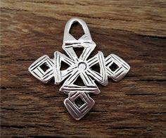 Medium Sterling Silver Coptic Cross one by VDIJewelryFindings