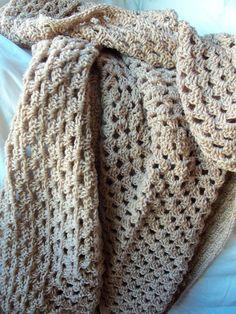 Handmade Crochet Blanket 42 x 52 Granny by CozyWarmCreations