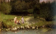Emile Claus, Picking Blossoms