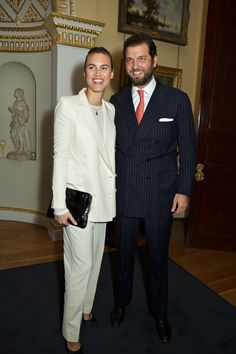 Prince Casimir zu Sayn-Wittgenstein with guest at the #BuccellatiOpera event at Spencer House, London, Britain on 21 Oct 2015.
