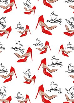 'Christian Louboutin shoes' iPhone Case by ncart Shoes Wallpaper, Hype Wallpaper, Fashion Wallpaper, Wallpaper Backgrounds, Iphone Wallpaper, Shoes Vector, Fashion Illustration Dresses, Butterfly Art, Pretty Wallpapers