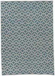 Jute, Polyester and Cotton Material Rugs in Blue color