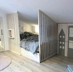 Bedroom Loft, Girls Bedroom, Hidden Spaces, Attic Rooms, New Room, Room Inspiration, Baby Room, Kids Room, New Homes