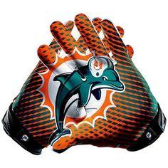 Nike Miami Dolphins Vapor Jet 2.0 Team Authentic Series Glove