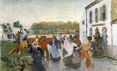 """Lucien Simon, """"Bal à Sainte-Marine"""""""