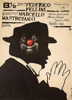 "8 1//2 1963 Movie Silk Poster 27/""x36/"" Federico Fellini Rare"