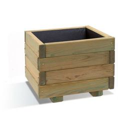 Wayford Natural Planter (27 litres) - A planter of simplistic and practical design, the Wayford 27 litre planter is a small square planter that is a very useable size for gardeners wanting a container for plants such as Geraniums, small Dahlias and Fuchsias. (H:265mm W:400mm D:400mm)