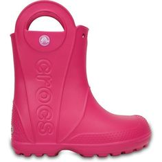 Crocs Boys' Handle It Rain Boots (Pink Dark, Size 11) - Crocs And Rubber Boots at Academy Sports