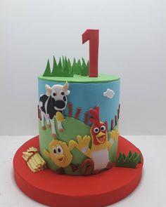 Torta la granja de zenon. Gracias Sofia una vez más. Farm Animal Birthday, Farm Birthday, Farm Animals, Fondant, Planter Pots, Samara, Collections, Beautiful, Ideas