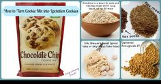 Lactation cookies using cookie mix --- http://tipsalud.com -----