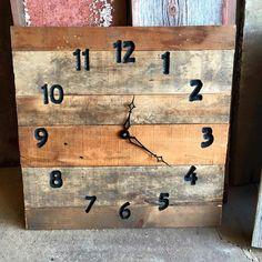 Bonificata legno orologio orologio rustico 20 x 20