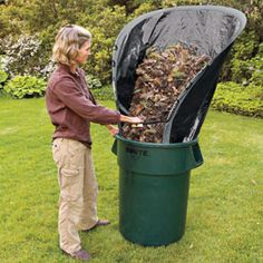 Leaf Loader, Leaf Tarp, Leaf Funnel | Solutions...I AM BUYING THIS TODAY!