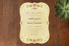 Wisteria Wedding Invitations by Griffinbell Paper . Fairytale Wedding Invitations, Wedding Paper, Our Wedding, Wedding Stuff, Dream Wedding, Wedding Themes, Wedding Bells, Wedding Colors, Wedding Ceremony