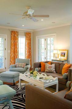 My Fav Living Room Colors Orange Curtainsorange