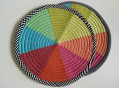 Coming: New pattern for color wheel coasters and potholders/trivets   by stitchindye