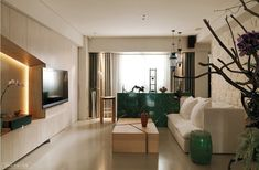 A Modern Asian Minimalistic Apartment - Modern oriental living room - Small House Interior Design, Japanese Interior Design, Apartment Interior Design, House Design, Asian Home Decor, Minimalist Interior, Minimalist Apartment, Modern Minimalist, Villa