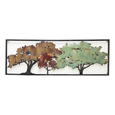 58 X 20-in Distressed Trees