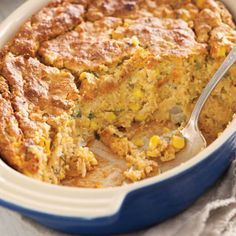 Sweet Potato Corn Spoonbread Recipe Side Dishes with cream cheese, unsalted butter, sweet potatoes, cream style corn, cornbread mix, frozen corn kernels, fresh parsley, large eggs, yellow onion, pecans