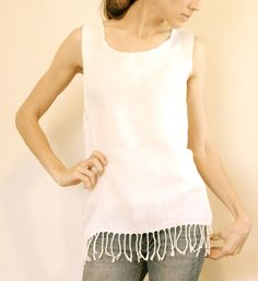 create a top from scarves | any kind of scarf — not just white — and make your own stylish top ...