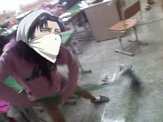 Intense Cleaning! Yup! That's Heichou Levi alright :-)