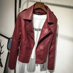 Autumn new pink jacket Women Short PU Leather Jacket Fashion Bomber Jacket Women Outwear Coat Motorcycle jacket Female Pu Jacket, Jacket Style, Biker Style, Cargo Jacket, Coats For Women, Jackets For Women, Men's Jackets, Lady, Gender