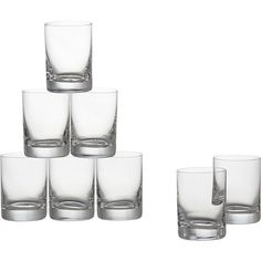 Set of 8 Bitty Bite Tall Glasses in Bar and Drinking Glasses | Crate and Barrel