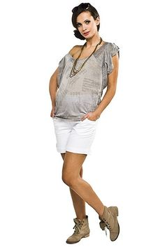 Bílé těhotenské šortky na léto Overall Shorts, Overalls, Women, Fashion, Moda, Fashion Styles, Jumpsuits, Fashion Illustrations, Work Wardrobe