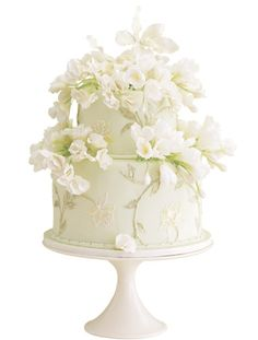 Green Sugar Flower Cake