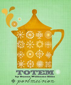 Portmeirion Totem-illustration print limited edition by sevenstar